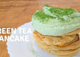 yt 57162 How to make Green tea Pancake with Cream Cheese topping Recipe  322x230 - How to make Green tea Pancake with Cream Cheese topping / Recipe ふわふわパンケーキと抹茶クリームチーズ