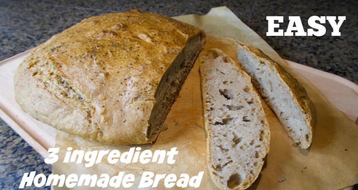 Easy 3 ingredient homemade bread | Healthy Spelt Bread ...