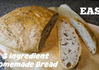 yt 59206 Easy 3 ingredient homemade bread Healthy Spelt Bread 322x230 - Easy 3 ingredient homemade bread | Healthy Spelt Bread