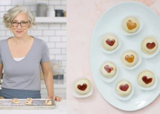 yt 60514 Sweetheart Thumbprint Cookies Everyday Food with Sarah Carey 322x230 - Sweetheart Thumbprint Cookies - Everyday Food with Sarah Carey
