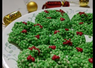 yt 62309 No bake Christmas Wreath Cookies Cookies Recipe How to make Christmas Wreath Cookies 322x230 - No-bake Christmas Wreath Cookies | Cookies Recipe | How to make Christmas Wreath Cookies