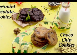 yt 67148 Eggless Cookies Recipes Choco Chip Cookies and Peppermint Chocolate Cookies New Year Special 322x230 - Eggless Cookies Recipes | Choco Chip Cookies and Peppermint Chocolate Cookies | New Year Special