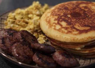 """yt 70776 How to cook breakfast pancakes sausage eggs 322x230 - How to cook breakfast """"pancakes sausage & eggs"""""""