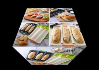 yt 73155 French Bread Baking Tray Non Stick French Bread Mould Mini Baguette Baking Pan 322x230 - French Bread Baking Tray Non-Stick French Bread Mould Mini Baguette Baking Pan
