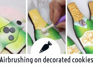yt 74650 Cookie Decorating Lesson How to airbrush cookies Champagne Bottle Cookies 322x230 - Cookie Decorating Lesson - How to airbrush cookies - Champagne Bottle Cookies