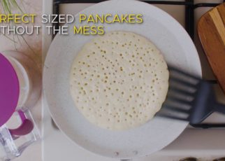 yt 98296 KPKitchen Pancake Batter Dispenser Perfect for Making Pancakes Cupcakes Cakes Crepes Waffles 322x230 - KPKitchen Pancake Batter Dispenser - Perfect for Making Pancakes, Cupcakes, Cakes, Crepes & Waffles