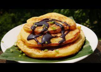 yt 98308 How to make pancake Pancake with chocolate Pancake making in my village 322x230 - How to make pancake!! Pancake with chocolate!! Pancake making in my village!![នំផេនខេក]