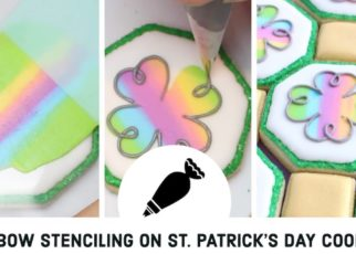 yt 98575 Rainbow stencilling with royal icing on Saint Patricks Day cookies Royal Icing cookies 322x230 - Rainbow stencilling with royal icing on Saint-Patrick's Day cookies - Royal Icing cookies