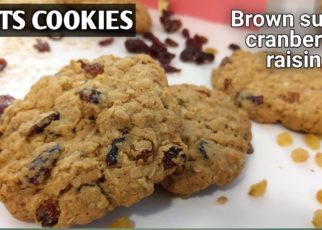 yt 99246 Oats cookies with cranberry and raisin How to make oats cookies 322x230 - ऑर्ट्स कूकीज ! Oats cookies with cranberry and raisin ! How to make oats cookies