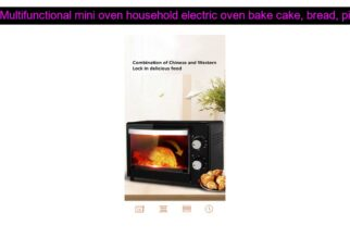 yt 212504 Multifunctional mini oven household electric oven bake cake bread pizza barbecue etc 322x230 - Multifunctional mini oven household electric oven bake cake, bread, pizza, barbecue, etc