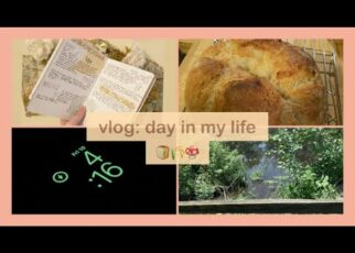 yt 214348 day in my life making bread working journaling 322x230 - day in my life: making bread, working, journaling🌾