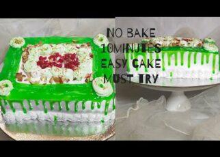 yt 222436 cakeNo bake easy cake recipe10 minutes easy bread cake 322x230 - cake//No bake easy cake recipe//10 minutes easy bread cake