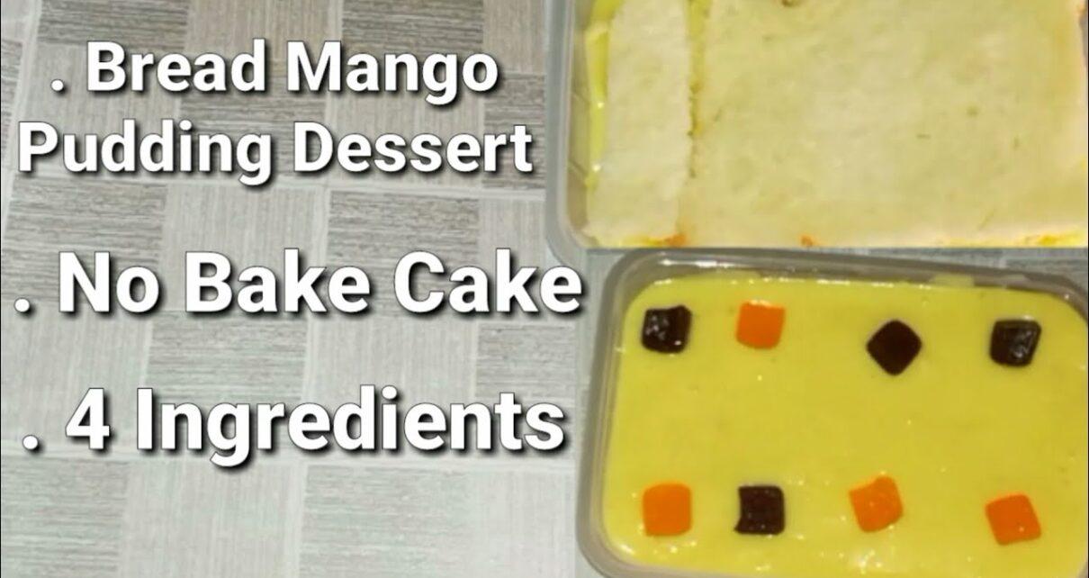 yt 224945 Easy Mango Dessert Recipe No Bake Cake Bread Mango Cake 4 Ingredients Mango pudding 1210x642 - Easy Mango Dessert Recipe | No Bake Cake | Bread Mango Cake | 4 Ingredients | Mango pudding