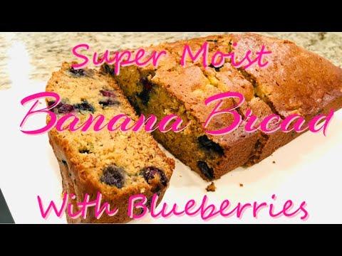 yt 224976 HOW TO BAKE THE SUPER MOIST BANANA BREAD WITH BLUEBERRIES SUPER MOIST AND SOFT BANANA BREAD - HOW TO BAKE THE SUPER MOIST BANANA BREAD WITH BLUEBERRIES// SUPER MOIST AND SOFT BANANA BREAD