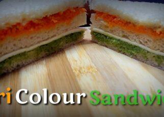 yt 225645 Tri colour sandwich bread sandwich easy sandwich cook with liz and ani 322x230 - Tri colour sandwich / bread sandwich /  easy sandwich / cook with liz and ani