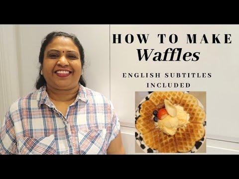 yt 237243 How To Make Waffles English subtitles Quick and easy waffle recipe  - How To Make Waffles (English subtitles)   Quick and easy waffle recipe   வப்பிள் செய்வது எப்படி 👩🏽🍳
