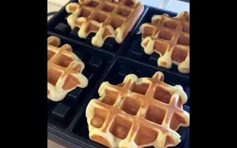 yt 237554 Lets make lean vegan waffles recipe 464x290 - Приготовим постные (веганские) вафли, рецепт / Let's make lean (vegan) waffles, recipe /