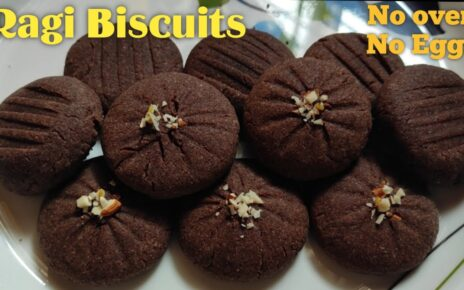 yt 238316 Ragi Biscuits Without Oven Healthy Ragi Cookies Finger Millets Cookies 464x290 - Ragi Biscuits Without Oven   Healthy Ragi Cookies   नाचणीची पौष्टिक बिस्किटे  Finger Millets Cookies