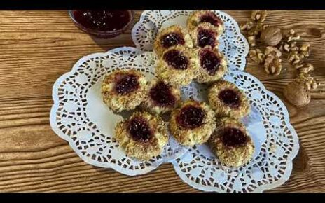 yt 238669 How to make thumbprint cookies  464x290 - How to make thumbprint cookies/ عمل كوكيز لذيذ وهش
