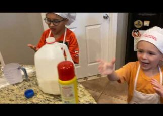 yt 238891 Cooking Pancakes with Mason and Maddux 322x230 - Cooking Pancakes with Mason and Maddux