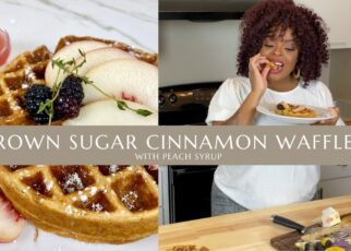 yt 238939 Brown Sugar Cinnamon Waffles with Peach Syrup An Ode to Summer Cook With Me 322x230 - Brown Sugar Cinnamon Waffles with Peach Syrup | An Ode to Summer | Cook With Me