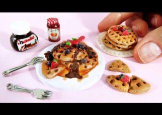 yt 239595 Easy Diy Miniatures Waffles Mini Food for Barbie Dollhouse Chocolate Strawberry Barbie hacks 322x230 - Easy Diy Miniatures Waffles Mini Food for Barbie Dollhouse   Chocolate Strawberry   Barbie hacks