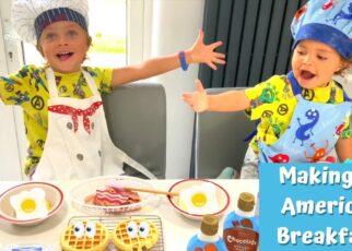 yt 239603 Making Waffles American Breakfast Daddy Shark Parker and Wyatt 322x230 - Making Waffles | American Breakfast | Daddy Shark | Parker and Wyatt