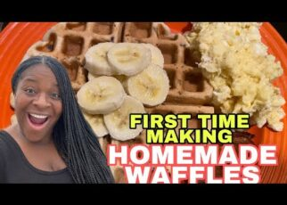 yt 239607 COOKING WITH PEACH HOMEMADE CHOCOLATE CHIP WAFFLES SCRAMBLED EGGS AND SAUSAGE  322x230 - COOKING WITH PEACH🍑: HOMEMADE CHOCOLATE 🍫 CHIP WAFFLES 🧇, SCRAMBLED EGGS 🥚 🍳 AND SAUSAGE 😋😋😋