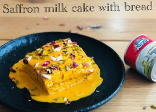 yt 239862 Eggless no bake saffron milk cake bread recipes fusion dessert easy quick with Abevia 322x230 - Eggless ~ no bake saffron milk cake | bread recipes | fusion dessert easy & quick with Abevia
