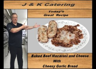 yt 242026 Baked Beef Macaroni and cheese with Cheesy Garlic Bread 322x230 - Baked Beef Macaroni and cheese with Cheesy Garlic Bread