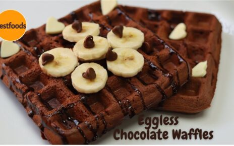 yt 243778 Eggless Whole Wheat Flour Chocolate WafflesChocolate WafflesBelgian WafflesWafflesWaffles Recipe 464x290 - Eggless Whole Wheat Flour Chocolate Waffles│Chocolate Waffles│Belgian Waffles│Waffles│Waffles Recipe