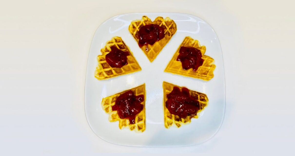 yt 249509 How to cook waffles Strawberry compote 1210x642 - How to cook waffles & Strawberry compote