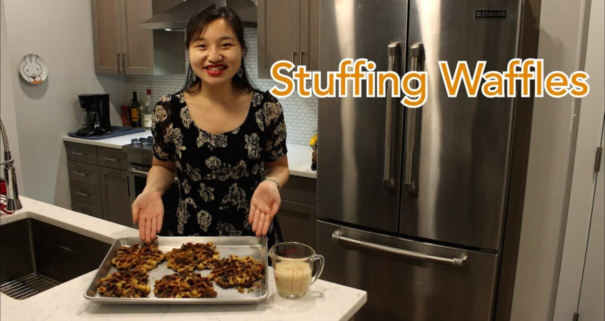 yt 250050 Thanksgiving Sausage Stuffing Waffles with Homemade Gravy 1210x642 - Thanksgiving Sausage Stuffing Waffles with Homemade Gravy