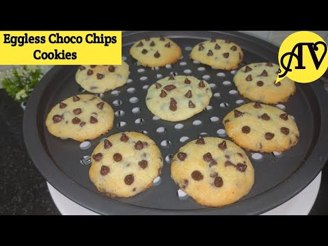 yt 250125 Choco chips cookiesEggless chocolate chips cookiesCookies without ovenBiscuit recipe - Choco chips cookies/Eggless chocolate chips cookies/Cookies without oven/Biscuit recipe
