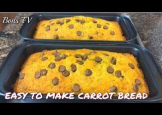 yt 251533 CARROT BREAD WITH CHOCOLATE CHIPS WALNUTS EASY TO BAKEHOW TO MAKE CARROT CAKE BREADBons TV 322x230 - CARROT BREAD WITH CHOCOLATE CHIPS &WALNUTS/ EASY TO BAKE/HOW TO MAKE CARROT CAKE /BREAD/Bons TV