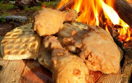 yt 253518 Fried Chicken Waffles Maple Gravy Campfire cooking 464x290 - Fried Chicken, Waffles & Maple Gravy - Campfire cooking