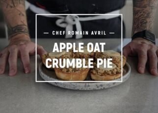 yt 253526 CHEF ROMAIN AVRIL COOK APPLE OAT CRUMBLE PIE 322x230 - CHEF ROMAIN AVRIL COOK: APPLE OAT CRUMBLE PIE
