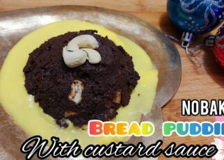 yt 253714 No bake Bread Pudding custard sauceChristmas party recipeNo bake recipeParty bake Bread pudding 322x230 - No bake Bread Pudding| custard sauce|Christmas party recipe|No bake recipe|Party bake| Bread pudding