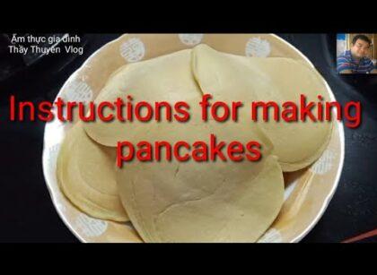 yt 253789 Instructions for making pancakes hng dn lm bnh Kp Con gi t lm m thc gia nh 420x307 - Instructions for making pancakes # hướng dẫn làm bánh Kếp # Con gái tự làm # Ẩm thực gia đình