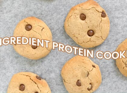 yt 262941 4 INGREDIENT CHOC CHIP PROTEIN COOKIES shorts 420x307 - 4 INGREDIENT CHOC CHIP PROTEIN COOKIES // #shorts