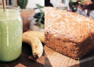 yt 263041 BAKE WITH ME chocolate banana bread green smoothies 322x230 - BAKE WITH ME: chocolate banana bread + green smoothies