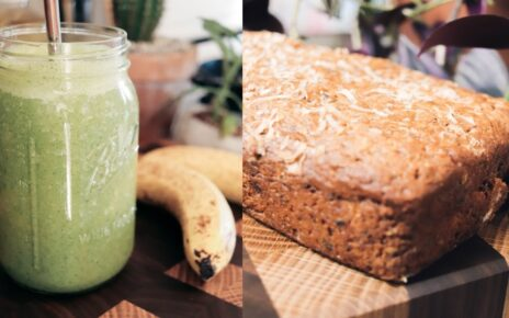 yt 263041 BAKE WITH ME chocolate banana bread green smoothies 464x290 - BAKE WITH ME: chocolate banana bread + green smoothies