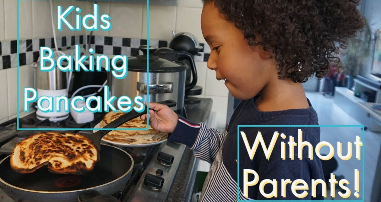 yt 263682 Kids Baking Pancakes WITHOUT PARENTS Cooking for Kids 1210x642 - Kids Baking Pancakes WITHOUT PARENTS!!! | Cooking for Kids🍴🍳🎂