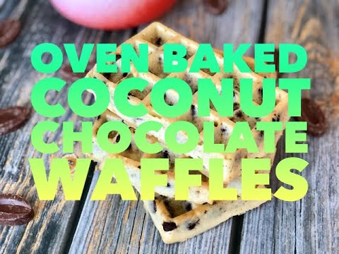 yt 271495 Oven Baked Coconut Chocolate Waffles - Oven Baked Coconut Chocolate Waffles
