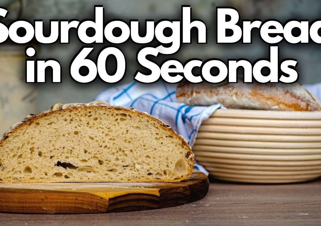yt 271763 Making SOURDOUGH BREAD From Scratch Sourdough Bread in 60 Seconds 1020x720 - Making SOURDOUGH BREAD From Scratch (Sourdough Bread in 60 Seconds)