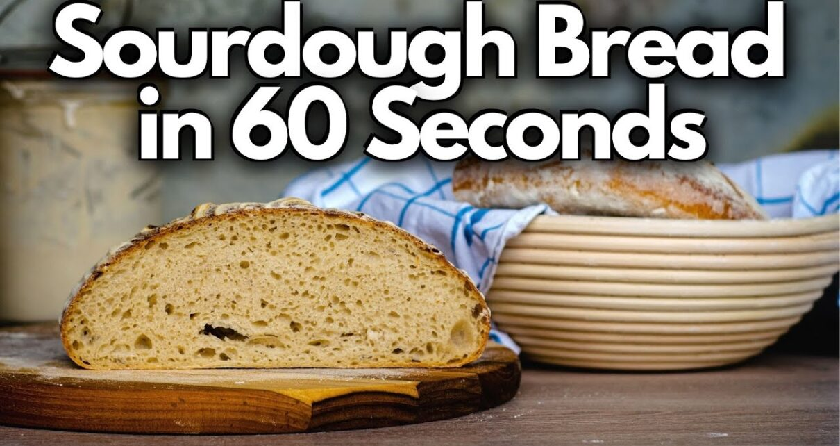 yt 271763 Making SOURDOUGH BREAD From Scratch Sourdough Bread in 60 Seconds 1210x642 - Making SOURDOUGH BREAD From Scratch (Sourdough Bread in 60 Seconds)